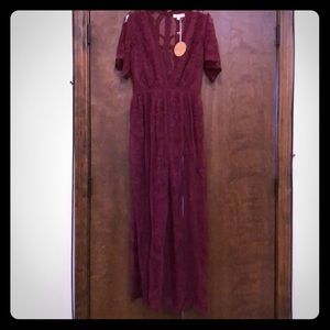 Other - Brand new wine lace romper